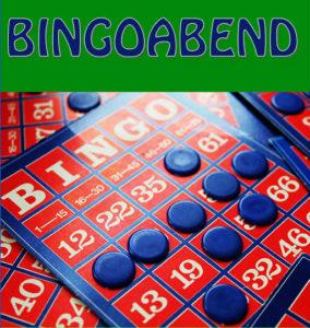 Ein Bingospielfeld als Logo zu7m Bingoabend im KLEX