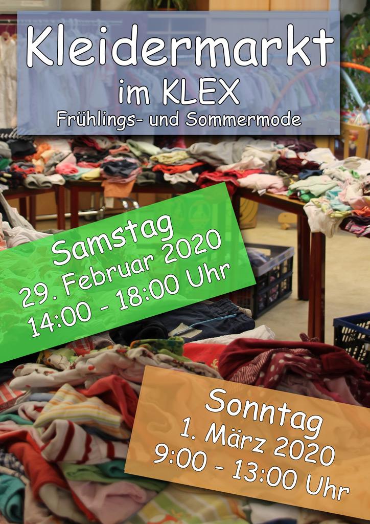 Kleidermarkt - Flyer zum Kleidermarkt im KLEX